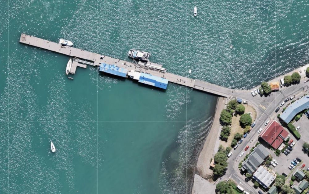 aerial view of wharf